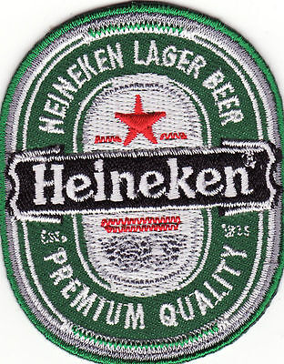 Heineken Lager Beer Embroidered Iron On Patch *New*