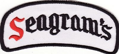 "Seagram's Whiskey 3 7/8"" Embroidered Iron On Beer Patch *New*"