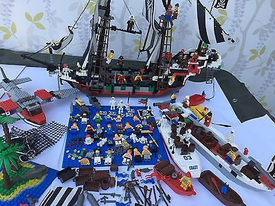 LEGO SKULL PIRATE  SHIP 6290 FIGURES - PLANES - WEAPONS 90S JOB LOT Rare Items