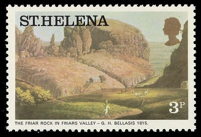 """ST. HELENA 299 (SG320A) - """"Friar Rock"""" by G.H. Bellasis (pa61066)"""