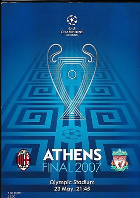 UEFA CHAMPIONS LEAGUE CUP FINAL PROGRAMME AC MILAN v LIVERPOOL May 2007 Athens