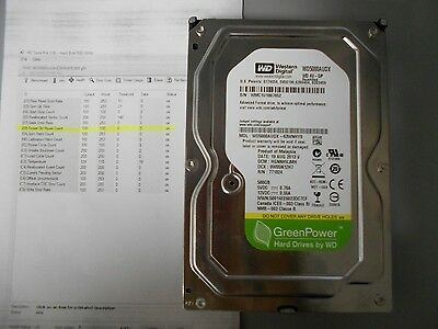 Recertified Western Digital Green 0hrs WD5000AUDX 500GB SATA 3.5 W/Health Report