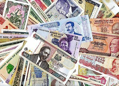 *****  Teriffic  Unsorted Auction  Lot Of More Than 150  World Notes!!!!  ****