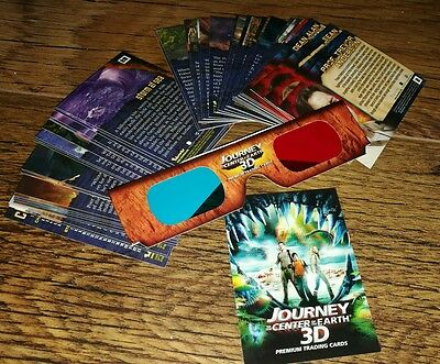 Journey To The Center Of The Earth 3D Trading Cards The Complete Base Set.