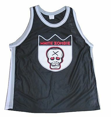 White Zombie X Head Logo Basketball Jersey Shirt New Official Rob Nos Osfm