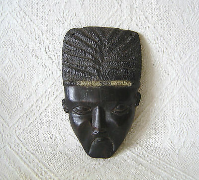 Vintage Carved African Wall Mask