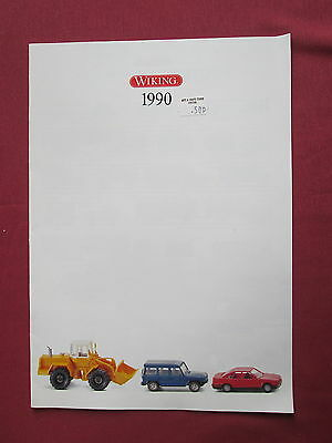 Wiking Verkehrs Modelle Catalogue 1990 German Text 16 Pages