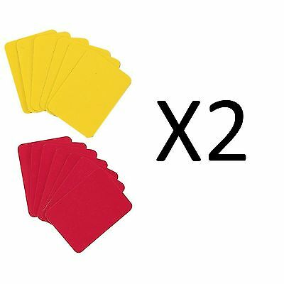 Champion Soccer Referee Red & Yellow Coloured Replacement Cards RWCD (2-Pack)
