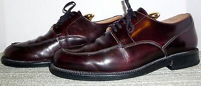 Johnston & Murphy Italian Crafted Burgundy Leather Oxfords Size 8 M! No Reserve!