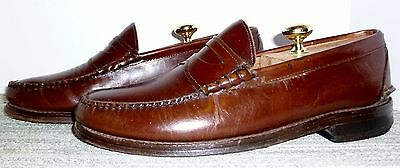 Johnston & Murphy Aristocraft Leather Penny Loafers Size 9 D/b! No Reserve!