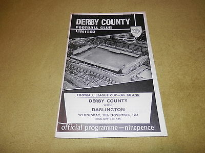Derby County v Darlington - 1967 League Cup 5th round at Baseball Ground