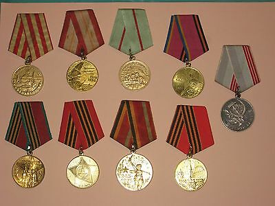 9 Russian Medals