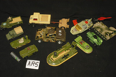 Vintage Dia Cast Military Selection Matchbox And Other Brands Ar5