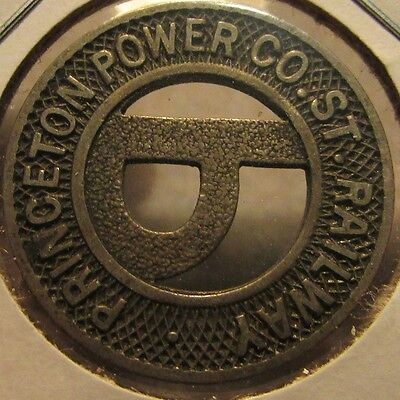 Very Old Princeton, WV Power Co. St. Railway Transit Trolley Token West Virginia