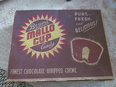 Vintage 1940s Boyer's MALLO CUP Chocolate Candy Display Box Advertising~Altoona