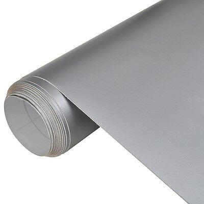 #s Car Film Vehicle Decal Film Car Sticker Exterior Care Matt Silver 152x200 cm