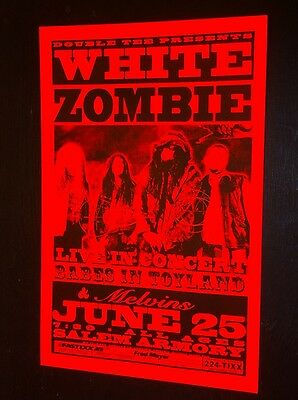 White Zombie Rob Babes in Toyland Melvins Rare Original Concert Tour Gig Poster