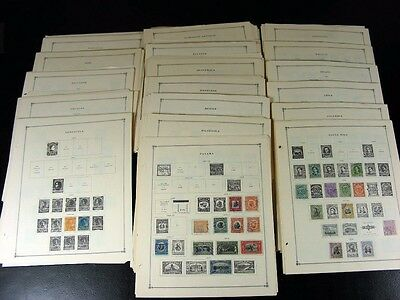 SOUTH and CENTRAL AMERICA stamps 19th/20th century plus Back of Book G971