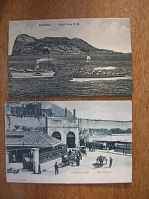 Gibraltar (4 Cards) The Market, Library, Rock From N.w.governor's Cottage