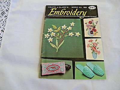 """Coats & Clark's  """"Embroidery"""" Book #180 1967"""