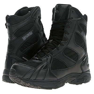 """Magnum Mens MUST 8"""" Side Zip Waterproof Military and Tactical Boots 5123"""