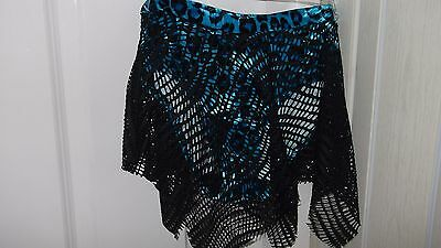 Turquoise leopard print, stretch velvet dance knickers