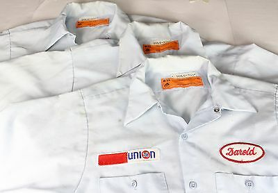 Vintage Union Oil Mechanic Service Station Uniform Work Shirt Short Sleeve Lot