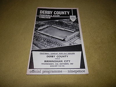 Derby County v Birmingham City - 1967 League Cup 3rd round at Baseball Ground