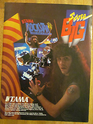 Anthrax, Tama Drums,  Full Page Promotional Ad