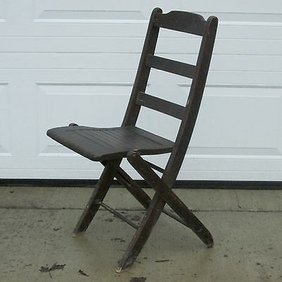 HEYWOOD BROTHERS AND WAKEFIELD CO FOLDING CHAIR Model 1228, Pre 1921, Very Solid