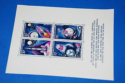 1969 MNH Sc C118 Space Moon Rocket Spaceship Complete Mini sheet of 4 Dahomey qq