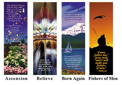 1 lot of 100 Artistic inspirational Bookmarks with Bible verse Christian gift