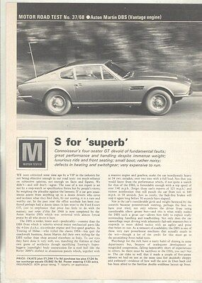 1969 Aston Martin DBS Roadtest Brochure ww5065