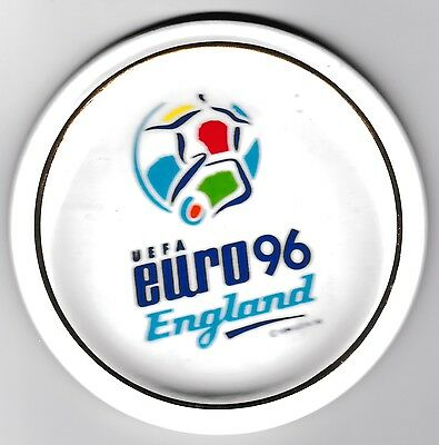 EURO 1996 England Ceramic Coaster / Plate / Ashtray diameter 90mm