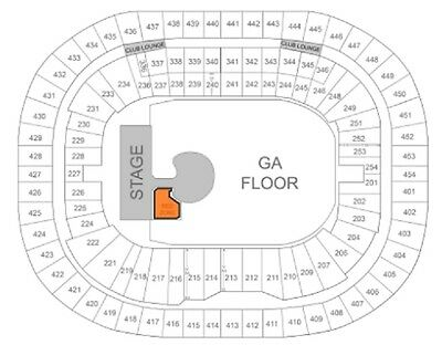 1 U2 Ticket - Vip (Red) Zone Floor @ Bc Place, Vancouver Fri 5/12/2017