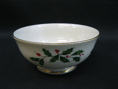 "Lenox Holiday~(1)~5 3/4"" Footed Dessert Bowl~1st Quality~Perfect"