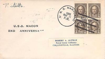 1932 Mount Vernon Washington's Birthplace Cover Franked #704 Plate Block