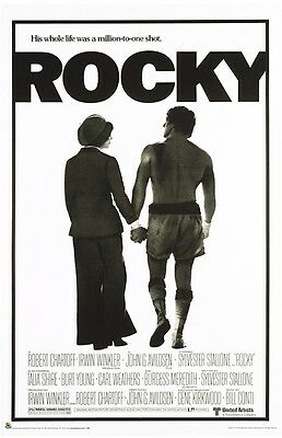 ROCKY ~ COUPLE WALKING 24x36 MOVIE POSTER Sylvester Stallone Boxing Talia Shire
