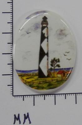70909      Porcelain -  Lighthouse  Fenced In  / Oval  30x40 - by each SALE