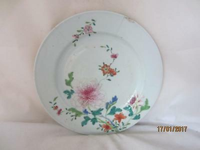 18Th Century Chinese Hand Painted Plate