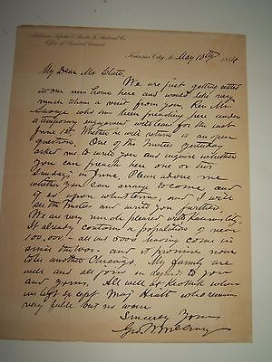 GEORGE W. McCRARY  Secretary of War 1877 Signed letter