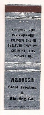 Wisconsin Steel Treating & Blasting Co. Milwaukee WI Lake Tomahawk Matchcover