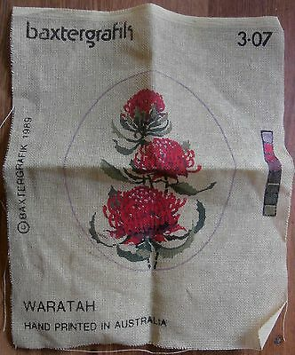 Waratah - Australian Native Flower - Embroidery Canvas Only - Look!