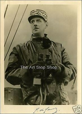 Hand Signed Charles De Gaulle  Autograph Reprint