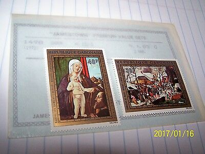 Gabon 1972 Postage Stamp Set Unesco Venice Paintings Mnh Lot 6