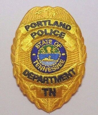 Portland Tennessee Police Hat Vest Patch Unused