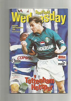 Sheff Wed v Tottenham 16th September 1995