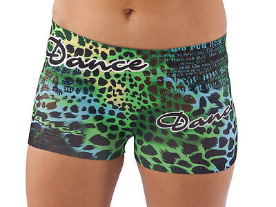 Lizatards Stretchy  /Dance Shorts  One Size Fits Most Tween-