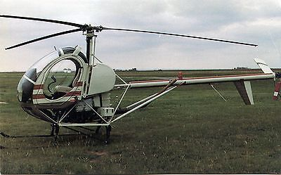 Hughes 300C Helicopter - Advertising Postcard