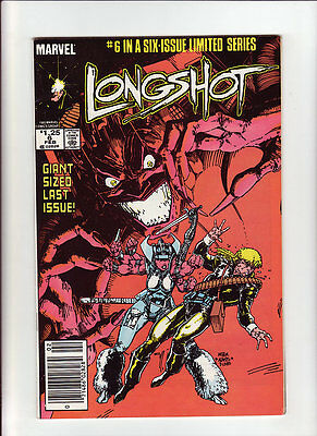 Longshot #5 F+ white pages 1985 Marvel Art Adams